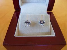 Enter to win a pair of 14K White Gold (1.13 cts) Heart Cut Studs from Diamond Nexus.