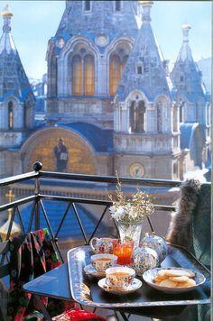 A Balcony view of ~ Cathédrale Alexandre Newski in Paris, France