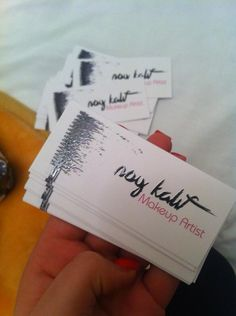 Business card for makeup artist Noy Kalif