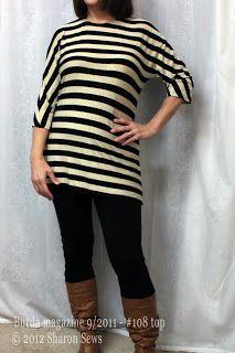 Sharon Sews: Stripey love - Burda Style 9/2011 108 tunic