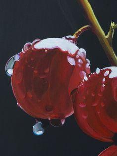 """""""L'apparente dolcezza"""" - """"The apparent sweetness"""" acrilico su tela 70x12 cm - acrilic on canvas 27,3x439"""" © Giulia Riva Art © Giulia Riva Art"""