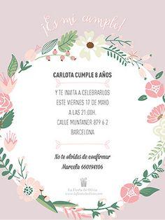 #invitaciones de #fiesta #gratis #personalizada en #español #free #printable www.lafiestadeolivia.com