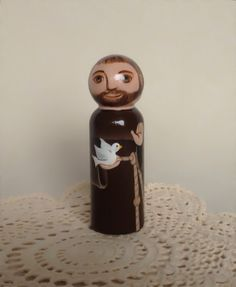 Hey, I found this really awesome Etsy listing at http://www.etsy.com/listing/156296701/saint-francis-of-assisi-wooden-peg-doll