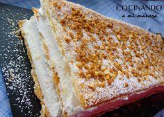 Tarta milhojas de nata | Cocinar en casa es facilisimo.com