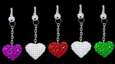 How To Make Crystal Beads Keychains At Home | DIY Home Made Keychains | ...