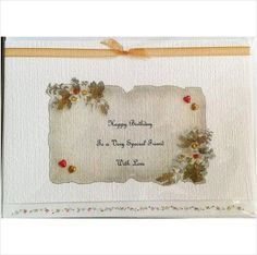 Happy birthday to a very special friend card, handmade, handcrafted, handpainted on eBid United Kingdom
