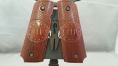III% (3 percent) Silver inlay on Bloodwood Full size 1911 grips by RavenWoodGripsLLC on Etsy