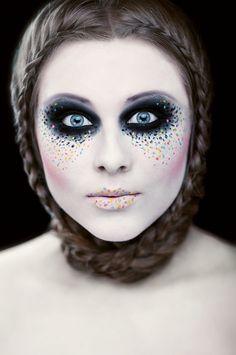 """Creative makeup """"all I see is dots""""  Photo by Marcin Greinert Hair: Julia Nowak Model: Anna Głowacka MUA by me :)"""