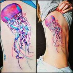 Neon Jellyfish tattoo