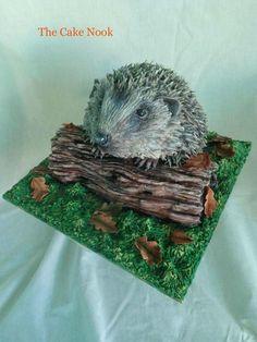 Hedgehog cake. (Animal rights collaboration) - Cake by Zoe Robinson