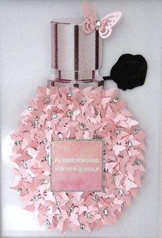 Flowerbomb perfume bottle picture butterfliesLuxury pearlised butterflies bathroomViktor and rolf decorBeauty salon hair dressers Flowerbomb Perfume, Parfum Dior, Parfum Flower, Cuadros Diy, Glamour Decor, Chanel Decor, Bottle Picture, Creation Deco, Flower Bomb