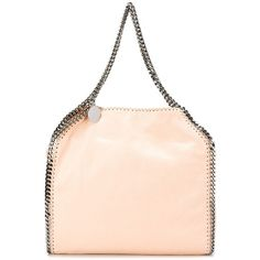 Stella McCartney 'Falabella' tote (3.860 RON) ❤ liked on Polyvore featuring bags, handbags, tote bags, pink purse, light pink purse, leather tote bags, pink leather purse and handbags totes
