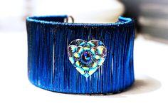 Bracelet hippie hippies psychedelic heart neon от SteampunkBDSM
