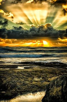 FB PHOTO SEASCAPE STORMCLOUDS SUNSET RAYS | Flickr - Photo Sharing!