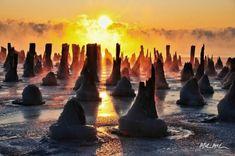 Fire Ice - Lake Superior, Thunder Bay, Ontario, Canada | photo by Mark Mcculloch