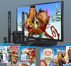Contest ~ Enter to Win a LED TV, a Blu-ray Player, & Sound System + a Library of Holiday Movies! 1000 Gifts, Fox Home, Holiday Movie, Enter To Win, Home Theater, Led, Movies, Home Theaters, Gift