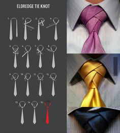 Eldredge knot. If they're not in bow ties, they're doing this