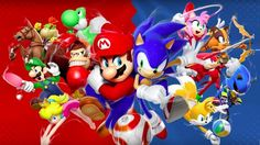 Mario & Sonic at the Rio 2016 Olympic Games - Japanese Trailer 23 de Fevereiro de 2016 Mario, Sonic, Peach and more characters swim, race and box in this handheld sports title. Mario & Sonic at the Rio 2016 Olympic Games - Japanese Trailer Wallpapers Games, Hd Wallpapers 1080p, Hedgehog Birthday, Sonic Birthday, Mundo Super Mario, Super Mario Bros, Rio Olympics 2016, Summer Olympics, Mario Party