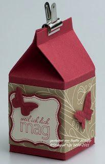 Stempel-trifft-Papier: Big Shot Stanze 'Mini-Milchkarton' - Big Shot die cutter 'mini milk carton'