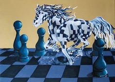 Stunning artwork celebrating chess. If you know the artist or can read the signature, please comment. #chess #art