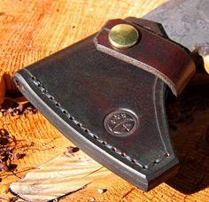 Gransfors Bruks Wildlife Hatchet sheath for sale ...brown & brass