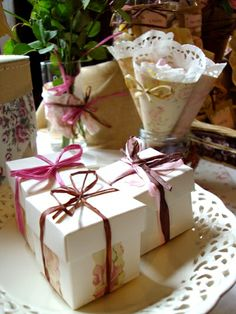 shabby chic wedding favours #wedding