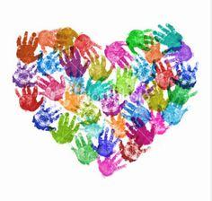 Hand print art Handprint crafts-- I hate handprint art! Auction Projects, Class Projects, Art Projects, Auction Ideas, Kids Crafts, Arts And Crafts, Pre School Crafts, Art Crafts, Valentine Crafts