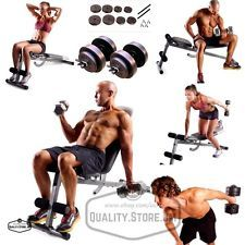 Adjustable Weight Bench Dumbbells Set With Leg Extension Portable Home Gym New in Sporting Goods, Fitness, Running & Yoga, Strength Training, Benches   eBay