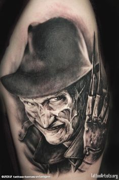Freddy Krueger Tattoo....that just freaks me out!!!