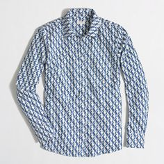 J.Crew Factory - Factory patterned oxford button-down shirt