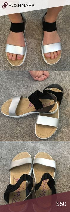 Blowfish sandals Great condition, only worn a few times Blowfish Shoes Sandals
