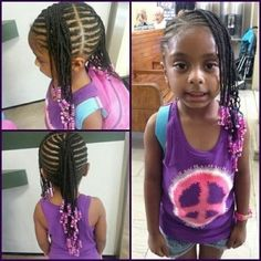 Outstanding Cornrow Mohawk With Black And Clear Beads Jo Lene Gentle Braids Short Hairstyles Gunalazisus