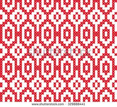 Slavic seamless pattern ornament cross stitch