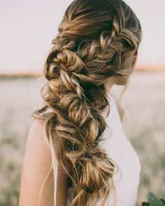 Hair and Makeup by Steph long braided wedding hairstyle - Deer Pearl Flowers / http://www.deerpearlflowers.com/wedding-hairstyle-inspiration/hair-and-makeup-by-steph-long-braided-wedding-hairstyle/