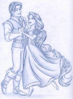 Rapunzel and Flynn Rider