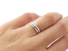 Sterling Silver Simple Classic  Wedding Band, 2 mm, Paired with 4 Prong Solitaire Wedding,Engagement, Anniversary Rings