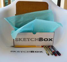 SketchBox - April's Box: Watercolor.  Featured artist: Morgan Ashley.   www.getsketchbox.com
