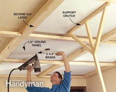 Ceiling Panels: How to Install a Beam and Panel Ceiling | The Family Handyman