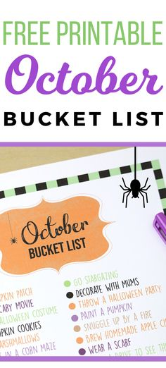 Make the most of fall with a fun October bucket list printable! These fun fall activities for families are easy and (mostly) free! #halloweenideas #fallactivities #fallbucketlist #freeprintable Disney Diy Crafts, Easy Diy Crafts, Diy Craft Projects, Diy Crafts For Kids, Fun Printables For Kids, Free Printables, Fun Fall Activities, Free Activities, Halloween Bucket List