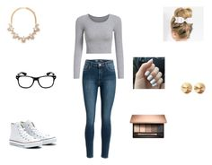 """Untitled #40"" by missyt123 ❤ liked on Polyvore featuring Forever 21, Converse and Eddie Borgo"
