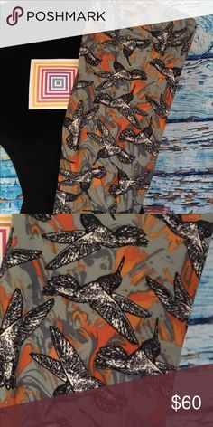 Lularoe NWT OS Leggings Hummingbirds Very hard to find & very beautiful.  I see why.  The first sold FAST! LuLaRoe Other