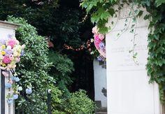 夏の装花 松濤レストラン様へ