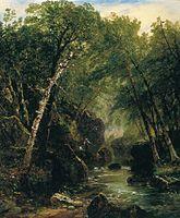 John Frederick Kensett  Trout Fisherman, oil on canvas, 1852. Thyssen-Bornemisza Museum