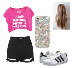 """""""#summer #outfit #goals"""" by tira-bianca on Polyvore featuring Topshop and adidas Originals"""