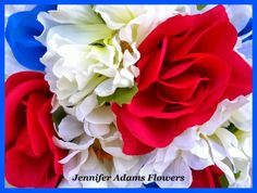 Jennifer Adams Flowers  Stars & Stripes Wedding  Jenniferadamsflowers.blogspot.com