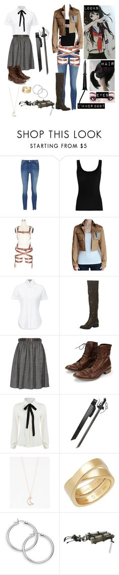 """Attack on Titan oc 5"" by gglloyd ❤ liked on Polyvore featuring 3x1, Twenty, Theory, River Island, Charles David, Full Tilt, Cartier and Levi's"