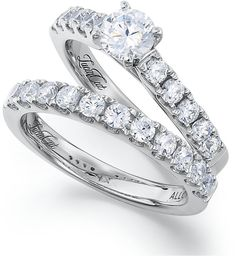 Lucia-Cut Diamond Wedding Band and Engagement Ring Set