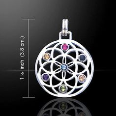 Necklaces and Pendants 98485: Flower Of Life Gemstone Necklace Pendant Peter Stone Fine Sterling Silver Tpd452 BUY IT NOW ONLY: $45.97