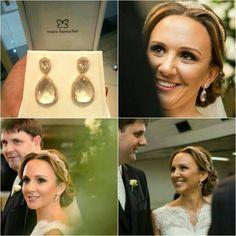 Cristiane Baeta, noiva linda com brincos de cristal #mairabumachar #bride #noivasmb #noiva