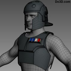 3D Printable Model: Agent Kallus Star Wars Rebels Full Body Armor Set (Helmet & Chest Piece / Breastplate) | File Formats: STL OBJ – Do3D.com